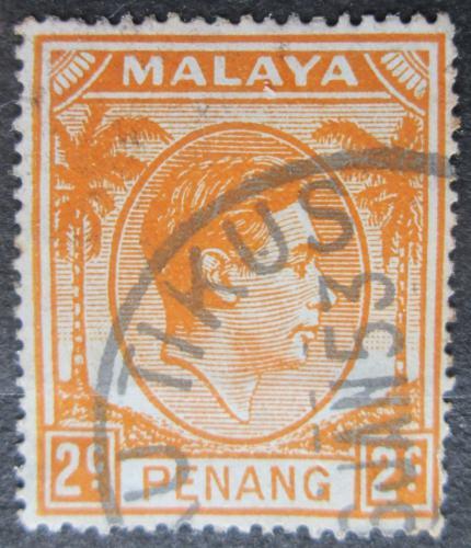 Poštovní známka Malajsie, Penang 1949 Král Jiøí VI. Mi# 4