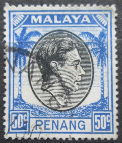 Poštovní známka Malajsie, Penang 1949 Král Jiøí VI. Mi# 19