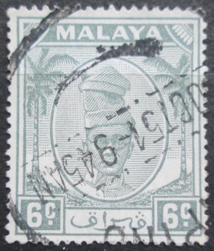Poštovní známka Malajsie, Perak 1950 Sultán Izuddin Mi# 86