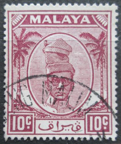 Poštovní známka Malajsie, Perak 1950 Sultán Izuddin Mi# 89
