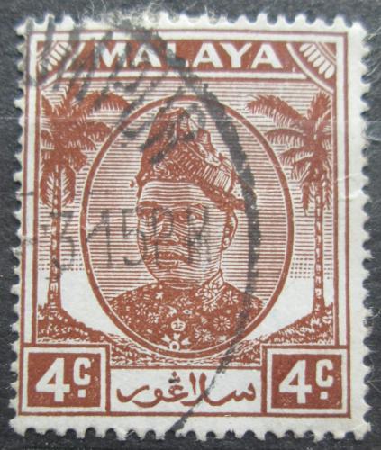 Poštovní známka Malajsie, Selangor 1949 Sultán Hisamuddin Alam Shah Mi# 56
