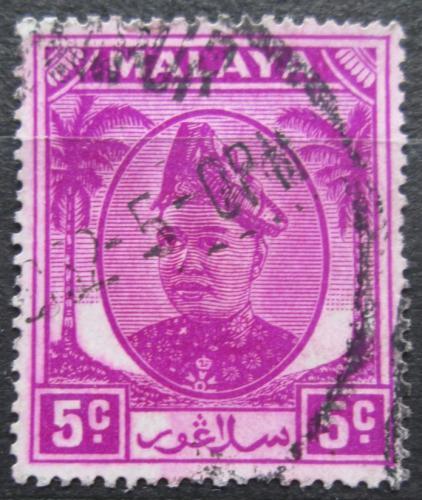 Poštovní známka Malajsie, Selangor 1952 Sultán Hisamuddin Alam Shah Mi# 57