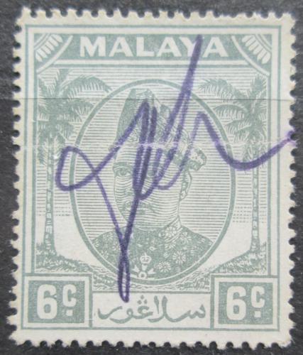 Poštovní známka Malajsie, Selangor 1949 Sultán Hisamuddin Alam Shah Mi# 58