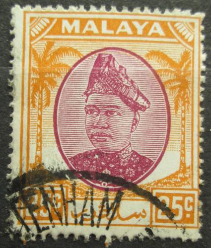 Poštovní známka Malajsie, Selangor 1949 Sultán Hisamuddin Alam Shah Mi# 66