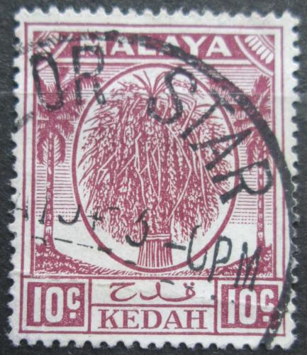 Poštovní známka Malajsie, Kedah 1950 Svazek rýže Mi# 69