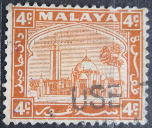 Poštovní známka Malajsie, Selangor 1935 Mešita Mi# 35