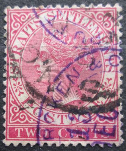 Poštovní známka Prùlivové osady 1889 Královna Viktorie Mi# 35 b