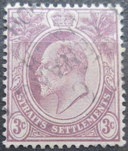 Poštovní známka Prùlivové osady 1904 Král Edward VII. Mi# 97