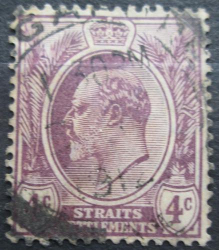 Poštovní známka Prùlivové osady 1908 Král Edward VII. Mi# 123 a