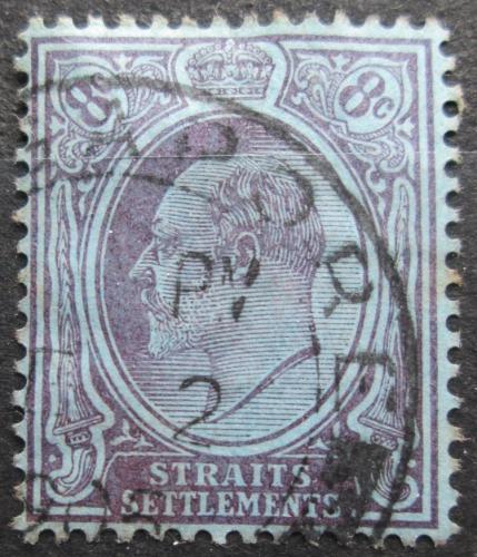 Poštovní známka Prùlivové osady 1905 Král Edward VII. Mi# 100