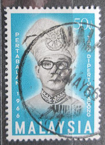 Poštovní známka Malajsie 1966 Král Ismail Nasiruddin Mi# 33