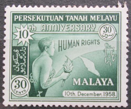 Poštovní známka Malajsie 1958 Lidská práva Mi# 11