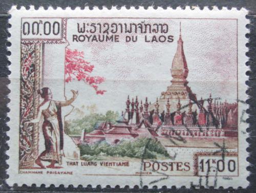 Poštovní známka Laos 1959 Chrám That Luang Mi# 101