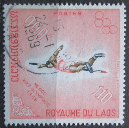 Poštovní známka Laos 1968 LOH Mexiko, skok o tyèi Mi# 247