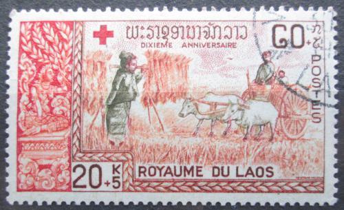 Poštovní známka Laos 1967 Èervený køíž Mi# 215