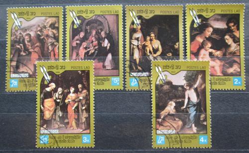 Poštovní známky Laos 1984 Umìní, Corregio Mi# 758-63