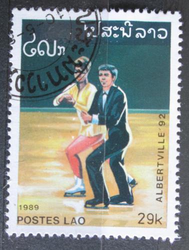 Poštovní známka Laos 1989 ZOH Albertville, krasobruslení Mi# 1152