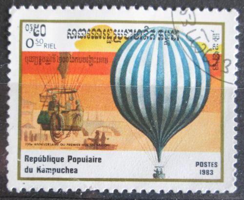 Poštovní známka Kambodža 1983 Létající balón Mi# 490