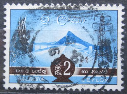 Poštovní známka Cejlon 1958 NP Gal Oya Mi# 308