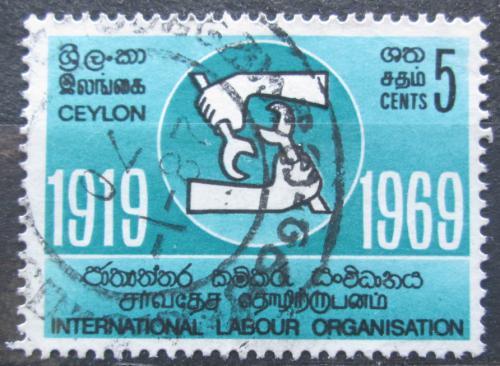 Poštovní známka Cejlon 1969 ILO, 50. výroèí Mi# 385