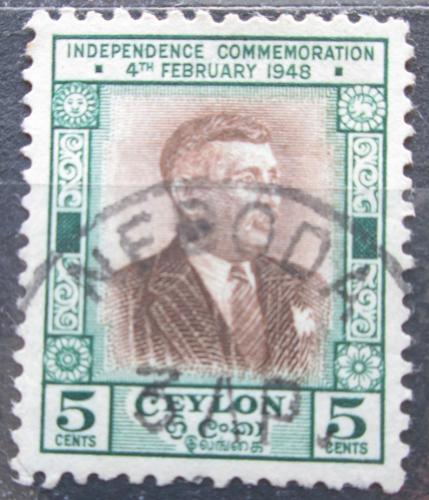 Poštovní známka Cejlon 1949 Premiér Senanayake Mi# 253