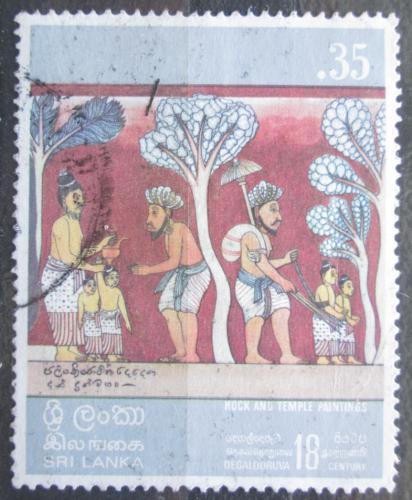 Poštovní známka Srí Lanka 1973 Náboženské umìní Mi# 433