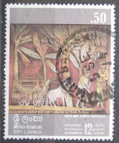Poštovní známka Srí Lanka 1973 Náboženské umìní Mi# 434