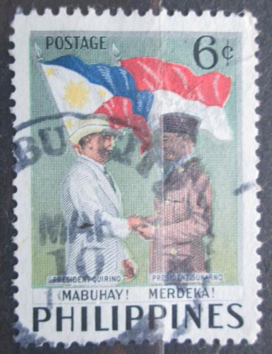 Poštovní známka Filipíny 1953 Návštìva prezidenta Indonésie Mi# 570