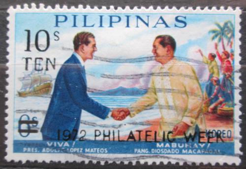 Poštovní známka Filipíny 1972 Návštìva mexického prezidenta pøetisk Mi# 1044