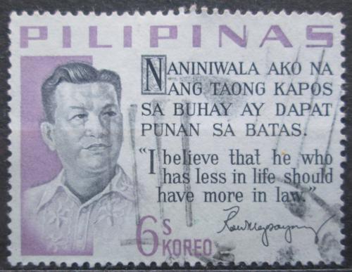 Poštovní známka Filipíny 1963 Prezident Ramón Magsaysay Mi# 744