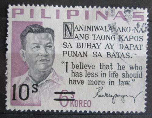 Poštovní známka Filipíny 1972 Prezident Ramón Magsaysay pøetisk Mi# 1020