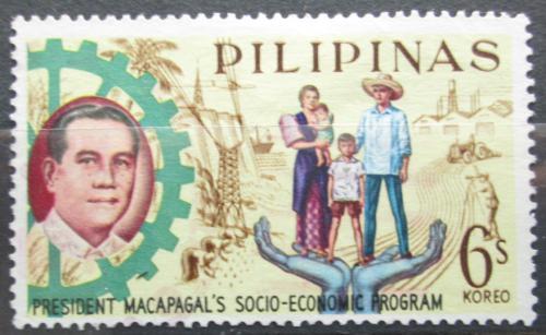 Poštovní známka Filipíny 1963 Prezident Diosdado Macapagal Mi# 736
