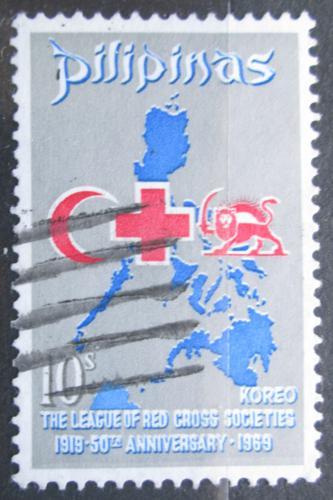 Poštovní známka Filipíny 1969 Èervený køíž Mi# 883