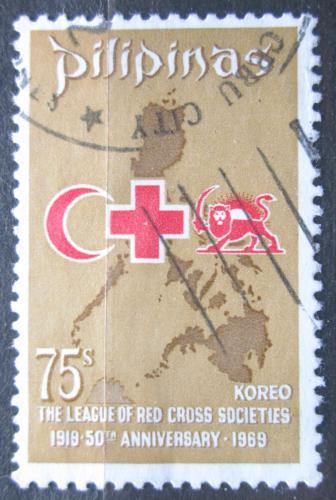 Poštovní známka Filipíny 1969 Èervený køíž Mi# 885