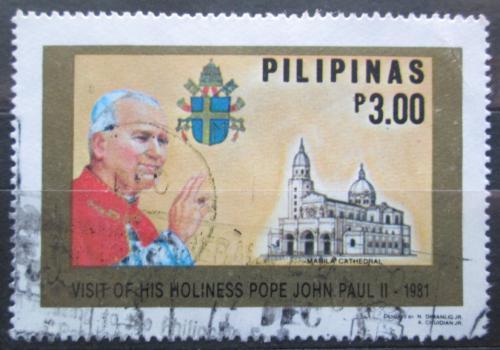 Poštovní známka Filipíny 1981 Papež Jan Pavel II. Mi# 1401