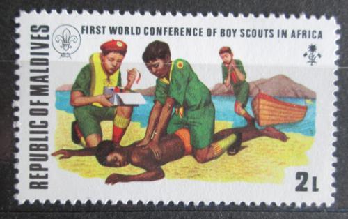 Poštovní známka Maledivy 1973 Skauti Mi# 455