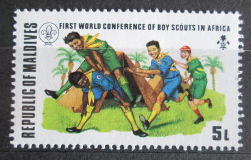Poštovní známka Maledivy 1973 Skauti Mi# 458