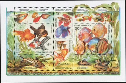 Poštovní známky Èeská republika 2003 Akvarijní rybièky Mi# Block 19