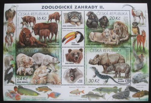 Poštovní známky Èeská republika 2017 Zoologické zahrady Mi# Block 65