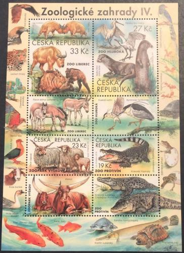 Poštovní známky Èeská republika 2019 Zoologické zahrady Mi# Block 77