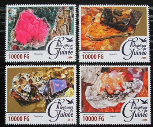 Poštovní známky Guinea 2016 Minerály Mi# 11656-59 Kat 16€