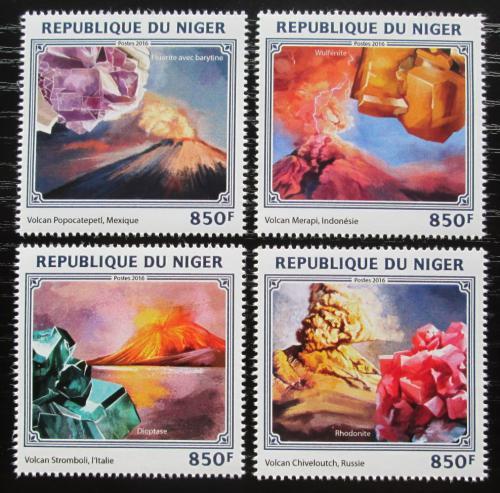 Poštovní známky Niger 2016 Sopky a minerály Mi# 4472-75 Kat 13€