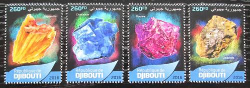 Poštovní známky Džibutsko 2016 Minerály Mi# 1224-27 Kat 10€