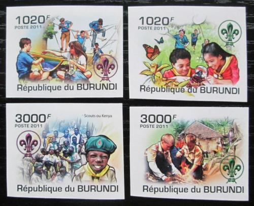 Poštovní známky Burundi 2011 Skauti neperf. Mi# 2202-05 B