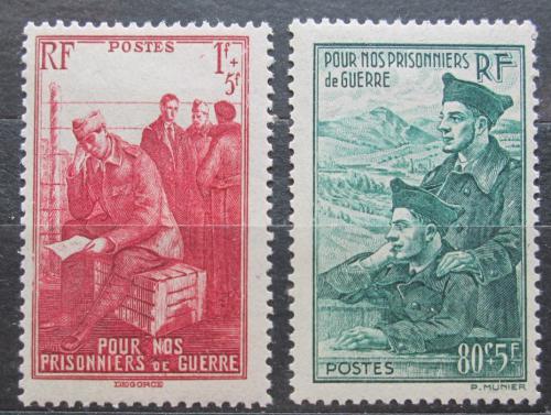 Poštovní známka Francie 1941 Vojáci Mi# 500-01