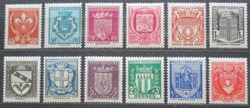 Poštovní známky Francie 1941 Znaky departementù Mi# 538-49 Kat 26€