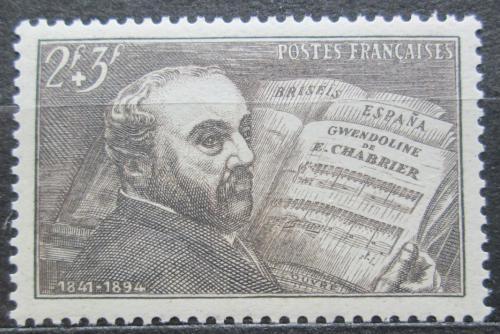 Poštovní známka Francie 1942 Emanuel Chabrier, operní skladatel Mi# 553