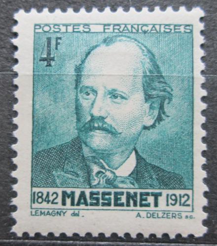 Poštovní známka Francie 1942 Jules Massenet, operní skladatel Mi# 555