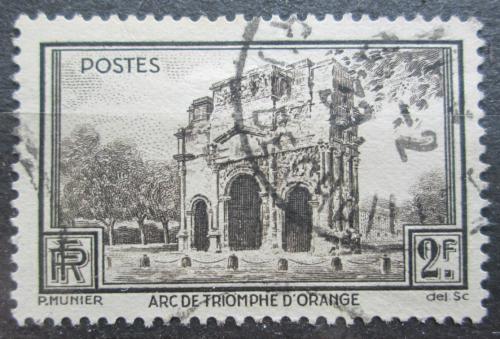 Poštovní známka Francie 1938 Øímský triumfální oblouk Mi# 410