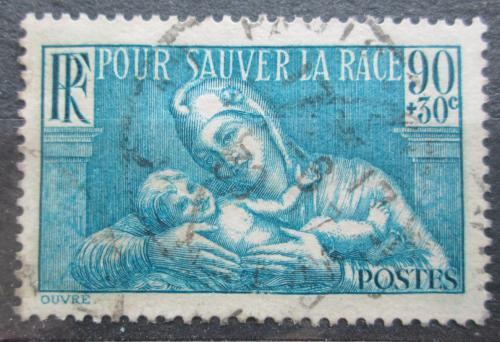 Poštovní známka Francie 1939 Matka s dítìtem Mi# 437